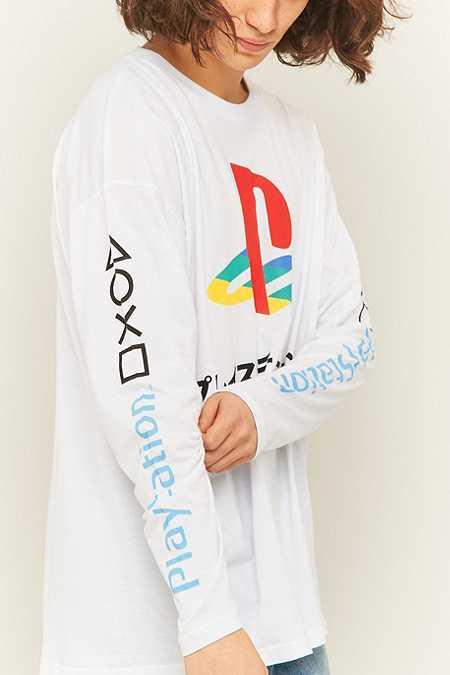 Urban Renewal Vintage Re-Made - T-shirt manches longues Playstation blanc