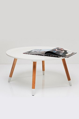 Dipped Legs Coffee Table in White  Urban Outfitters
