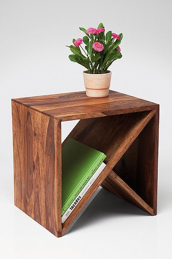 Zig zag cubed side table urban outfitters for Table design using jsp