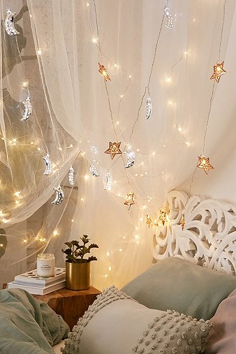 Copper star fairy lights urban outfitters for Fairy lights urban outfitters us