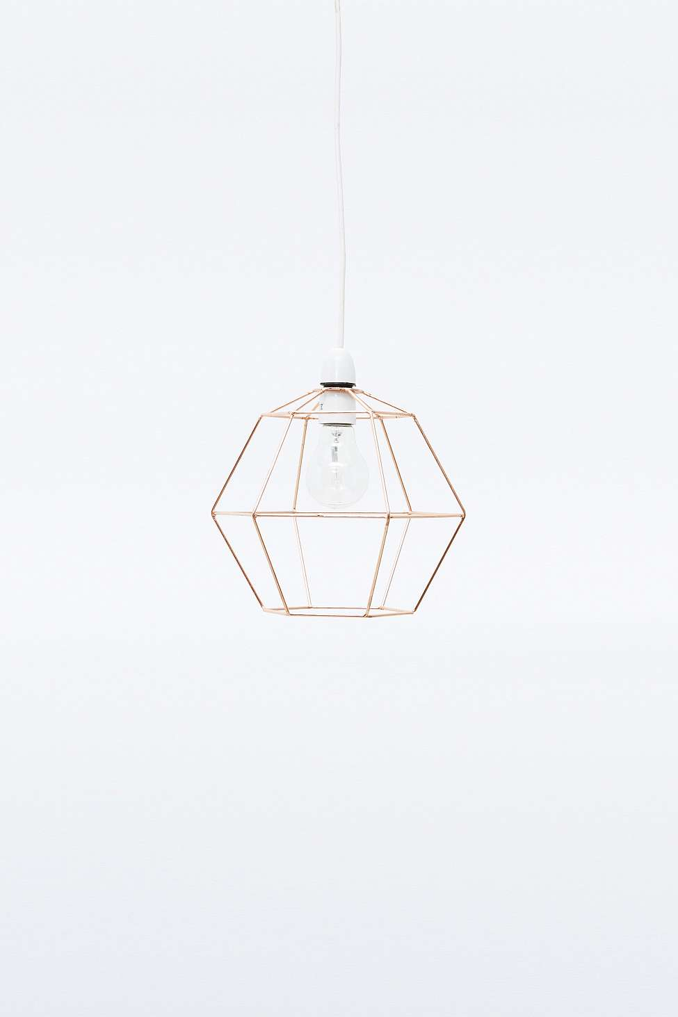 Urban Outfitters wire pendant lamp shade