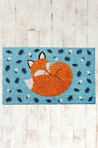 Rusty the fox door mat urban outfitters for Room decor urban outfitters uk