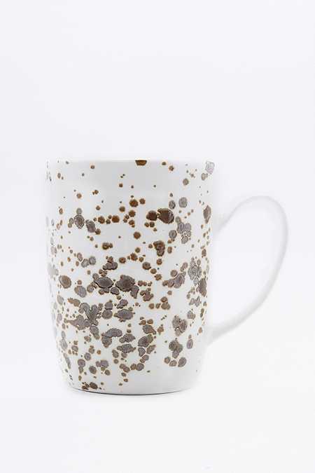 Tasse effet moucheté métallisé