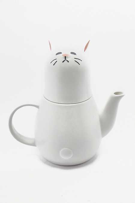 Service à thé pour une personne motif lapin