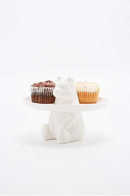 Bear Cake Stand in White