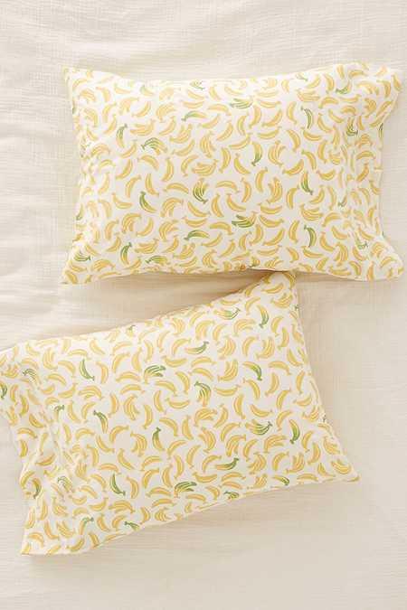 Lot de taies d'oreillers à motifs bananes
