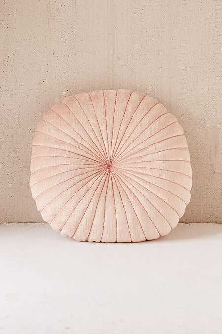 Coussin coquillage rond en velours