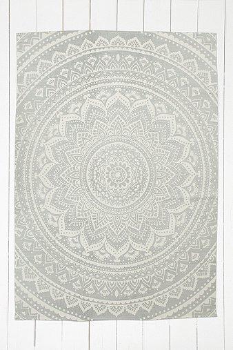 """Teppich """"Sahara"""" in Grau mit MedaillonDesign, 5 x 7 Fuß"""
