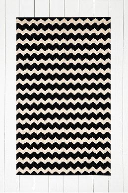 Tapis zigzag noir