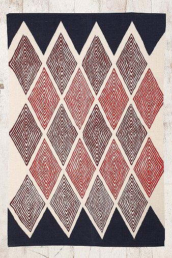 Teppich mit Rautenmuster in Grau, 5 x 7 Fuß  Urban