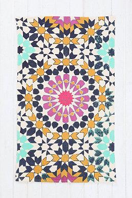 Tapis motif floral 3 x 5