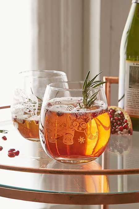 Lot de verres à vin motif éléphant