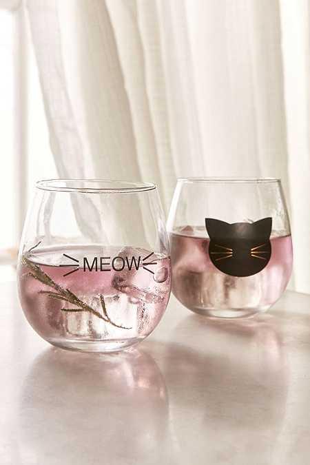 Lot de verres à vin Meow