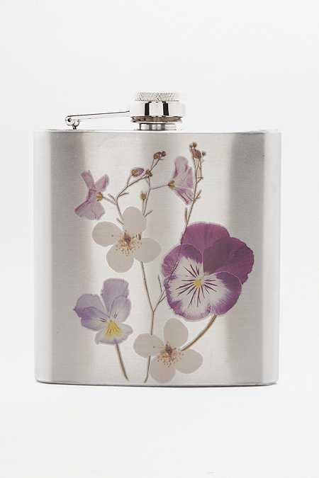 Flasque motif fleuri