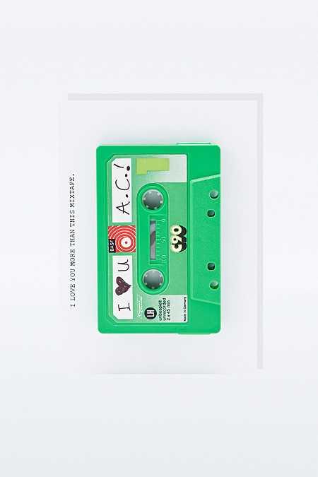 Carte motif cassette