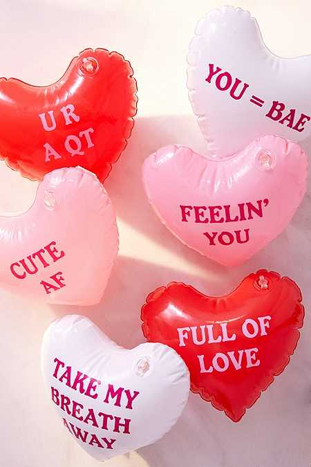 Lot de cœurs gonflables à message