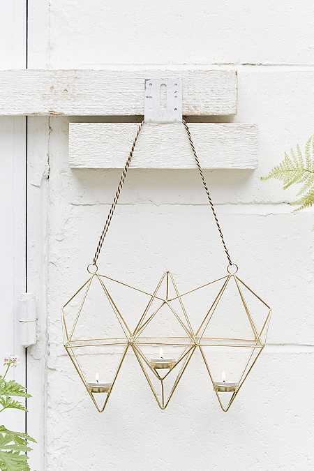 Geo Hanging Candle Holder