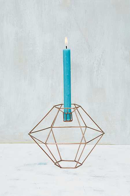 Copper Dome Candle Holder