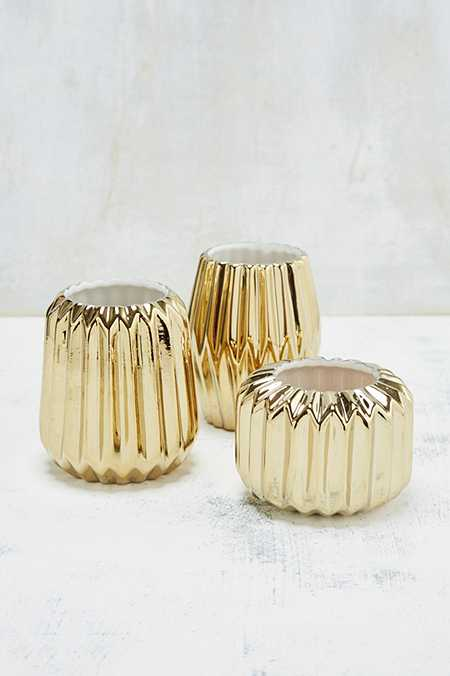 Fluted Votive Candle Holder Set
