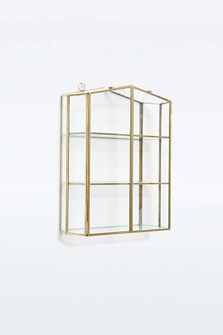 Présentoir à bijoux doré forme maison