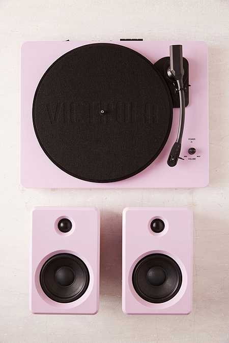Ep-33 - Tourne-disque bluetooth Swear rose avec enceintes
