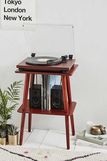Teac - Tourne-disque TN-100 en cerisier avec haut-parleurs