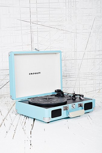 Crosley Mini Cruise Turntable UK Plug in Aqua