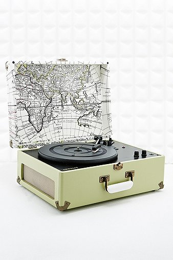 Crosley Keepsake Map Uk Plug Record Player Urban Outfitters