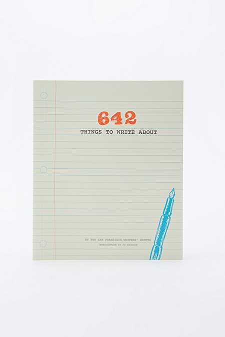 """""""642 Things To Write About"""" Buch"""