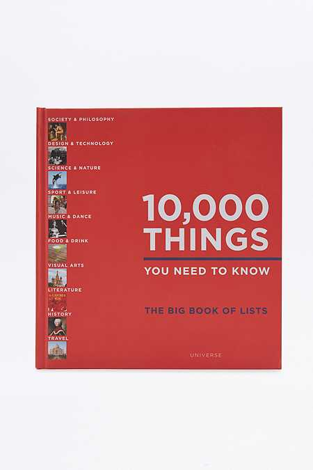 Livre 10,000 Things You Need To Know : The Big Book of Lists
