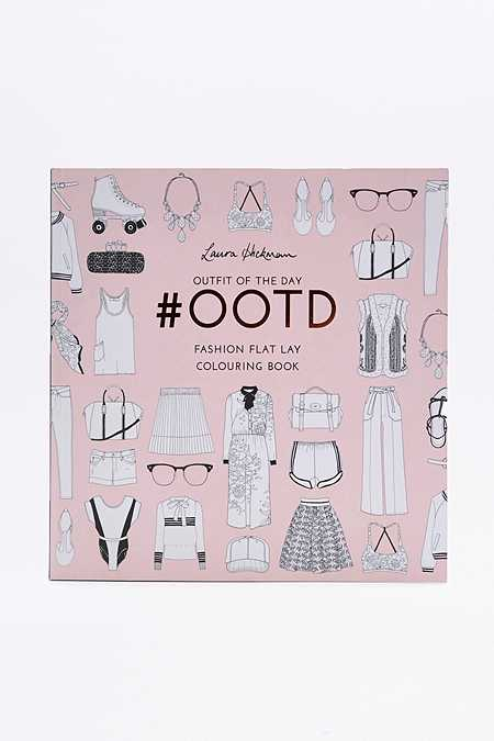 Outfit Of The Day #OOTD: Fashion Flat Lay Colouring Book