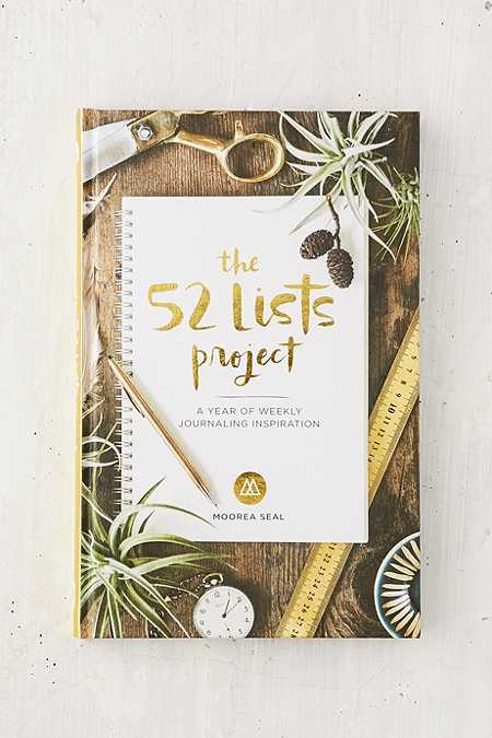Livre d'inspiration The 52 Lists Project: A Year of Weekly Journaling
