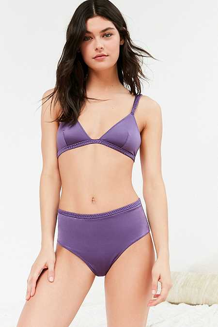 Out From Under - Culotte taille haute en satin violette