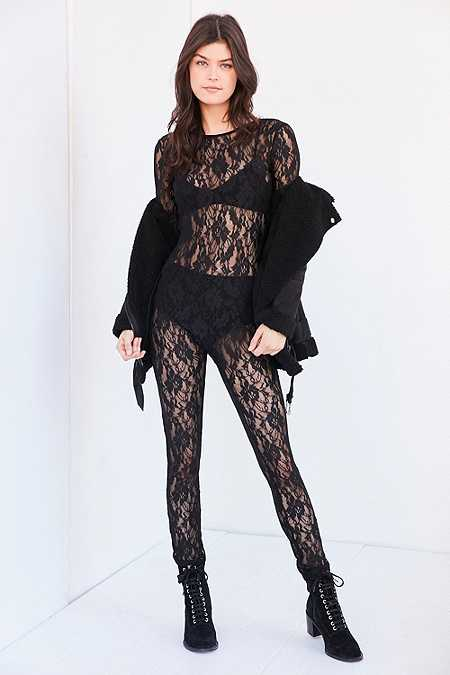 Out From Under Claire Black Lace Unitard