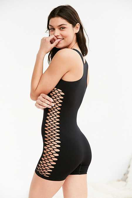 Out From Under Seamless Fishnet Playsuit