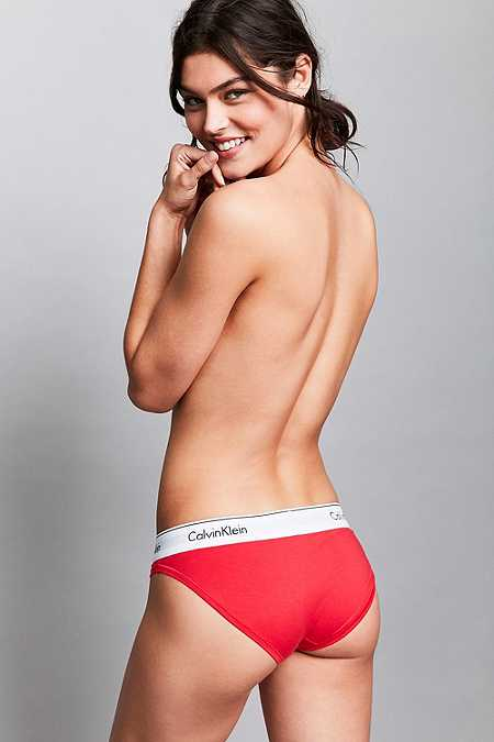 Calvin Klein - Culotte Modern en coton rouge