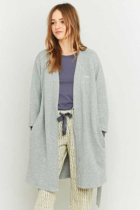 Calvin Klein Grey Quilted Dressing Gown