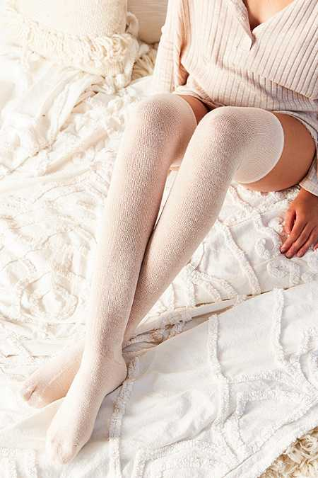 Solid Thigh-High Socks