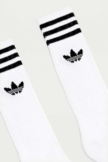 adidas - Lot de 3 paires de chaussettes blanches - Urban Outfitters