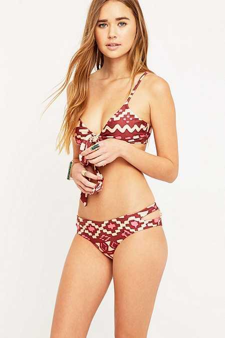Somedays Lovin' - Bas de bikini Marsala à imprimé géométrique