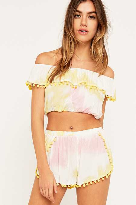 Little White Lies Rose Pom Pom Shorts