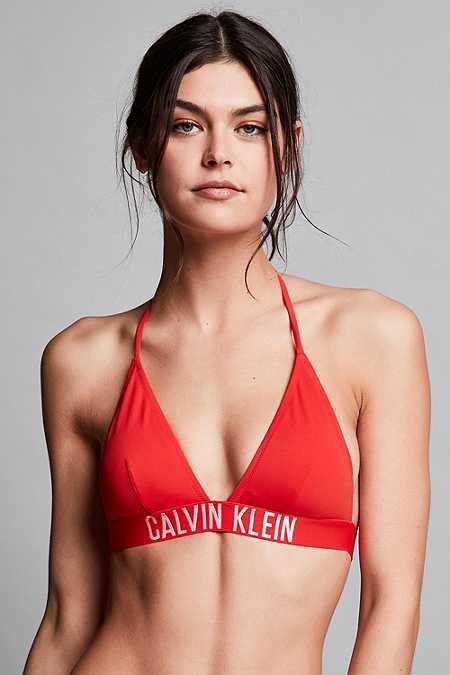 """Calvin Klein – Triangel-Bikinioberteil """"Fiery"""" in Rot"""