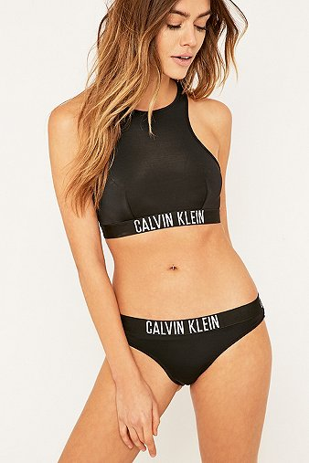 calvin klein black bralette bikini top urban outfitters. Black Bedroom Furniture Sets. Home Design Ideas