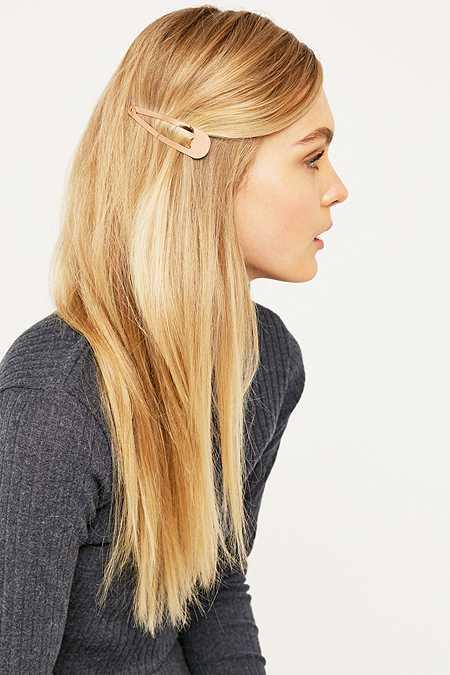 Barrette à cheveux or rose