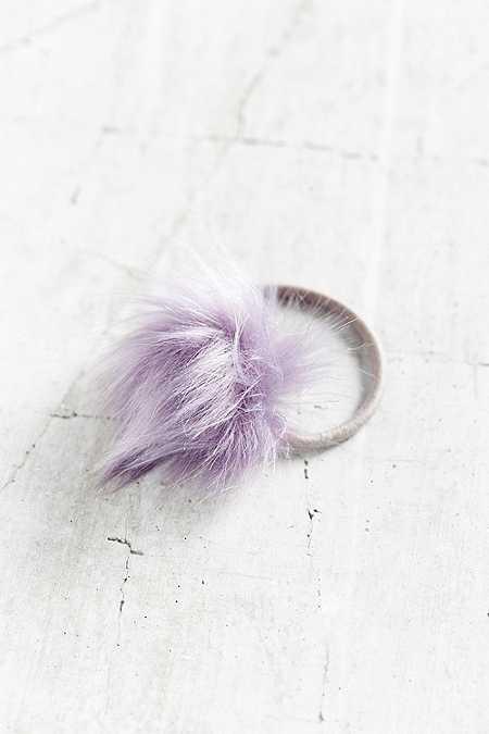Élastique à cheveux duveteuse lilas