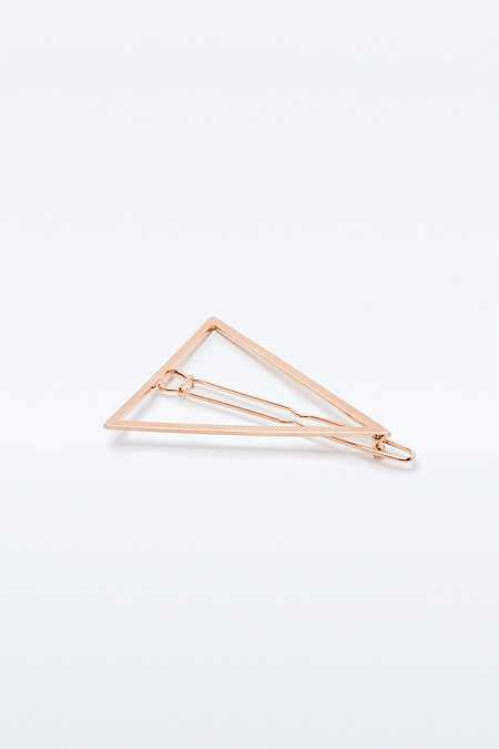 Barrette minimaliste en forme de triangle
