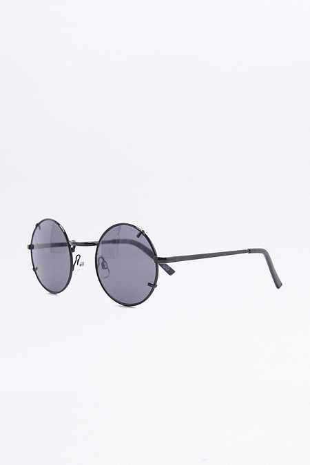 Runde Sonnebrille mit Metallclip