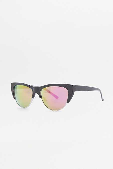 Futuristische Katzenaugen-Sonnenbrille mit Cut-outs