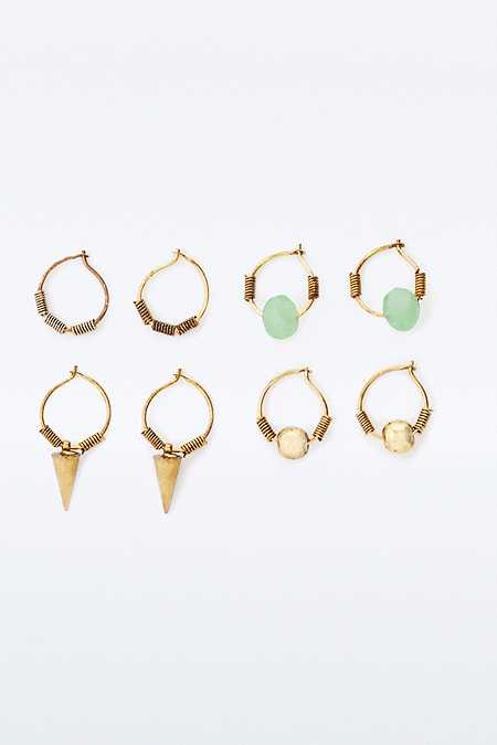 Rocky Gold Hoop Earrings Multipack