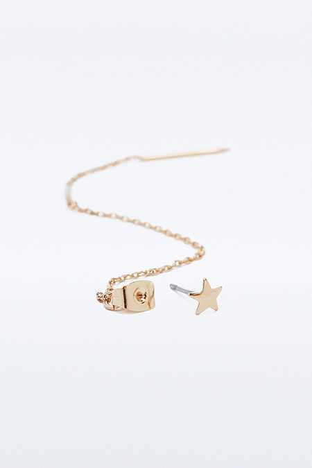 Star Chain Pull Through Earrings